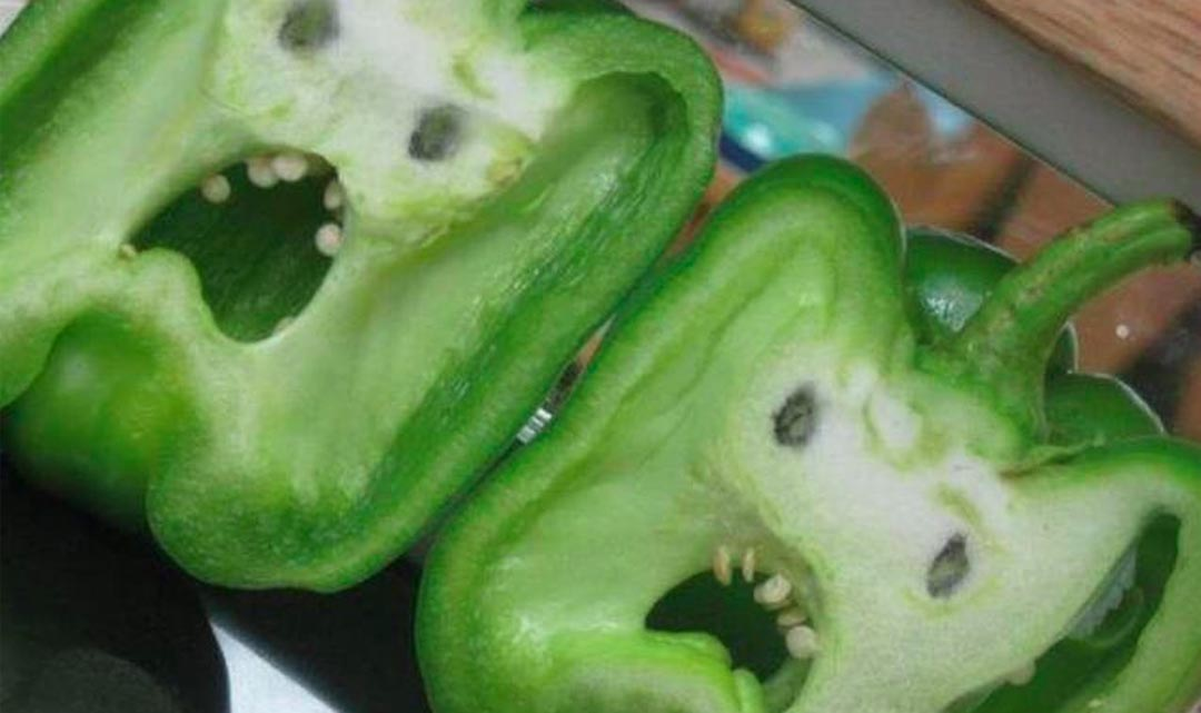 Creepy Bell Pepper Faces