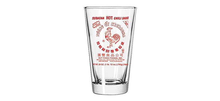 sriracha pint glass