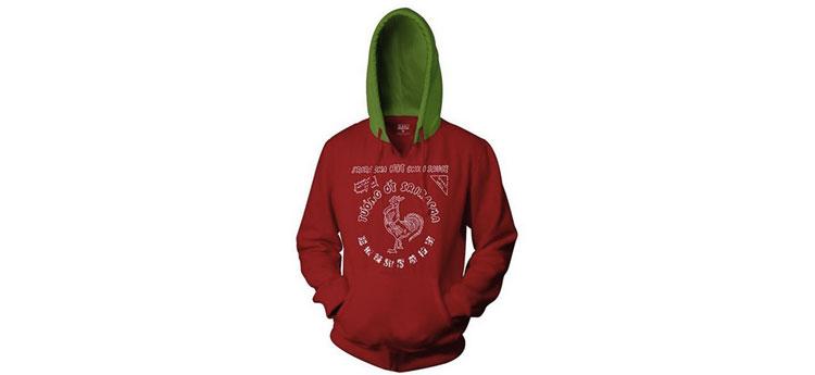 sriracha green top hoodie
