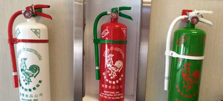 fire extinguisher sriracha