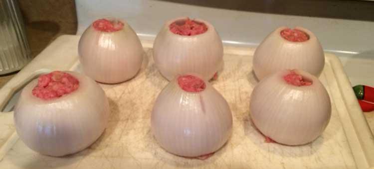 stuff the onions
