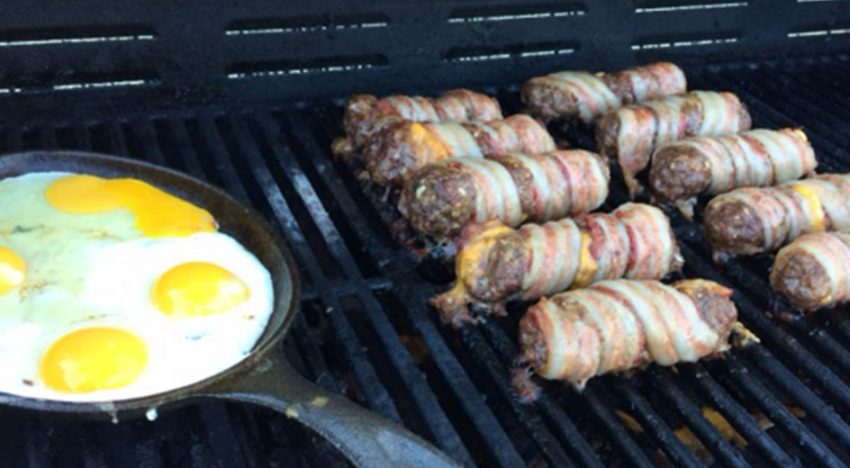 Bacon Wrapped Beef Dogs
